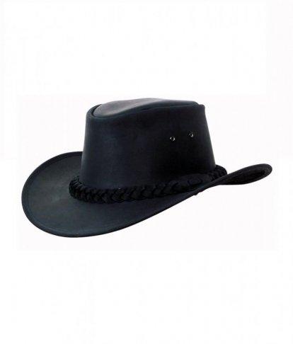 7c85bdbf16c Kožený klobouk BUSHMAN